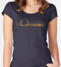 Ollivanders Logo in Yellow Women's Fitted Scoop T-Shirt