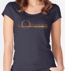 Ollivanders Logo in Gelb Tailliertes Rundhals-Shirt