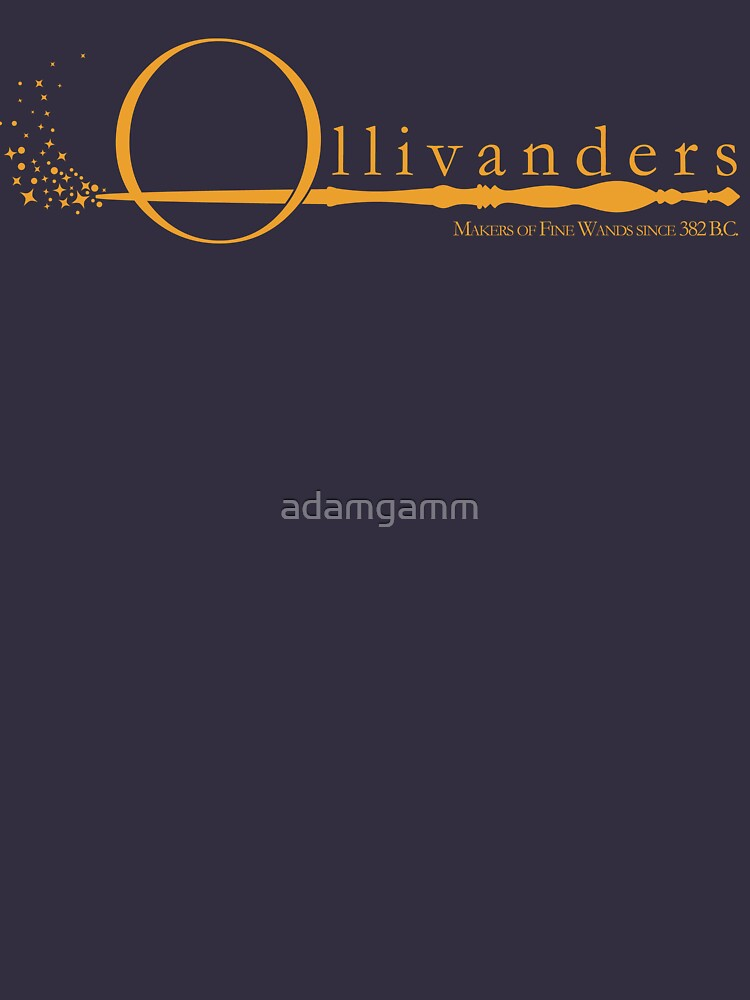 Ollivanders Logo in Yellow by adamgamm