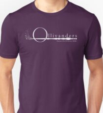 Ollivanders Logo in White T-Shirt