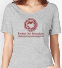 Eeylops Owl Emporium in Red Women's Relaxed Fit T-Shirt