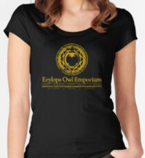 Eeylops Owl Emporium in Yellow Women's Fitted Scoop T-Shirt