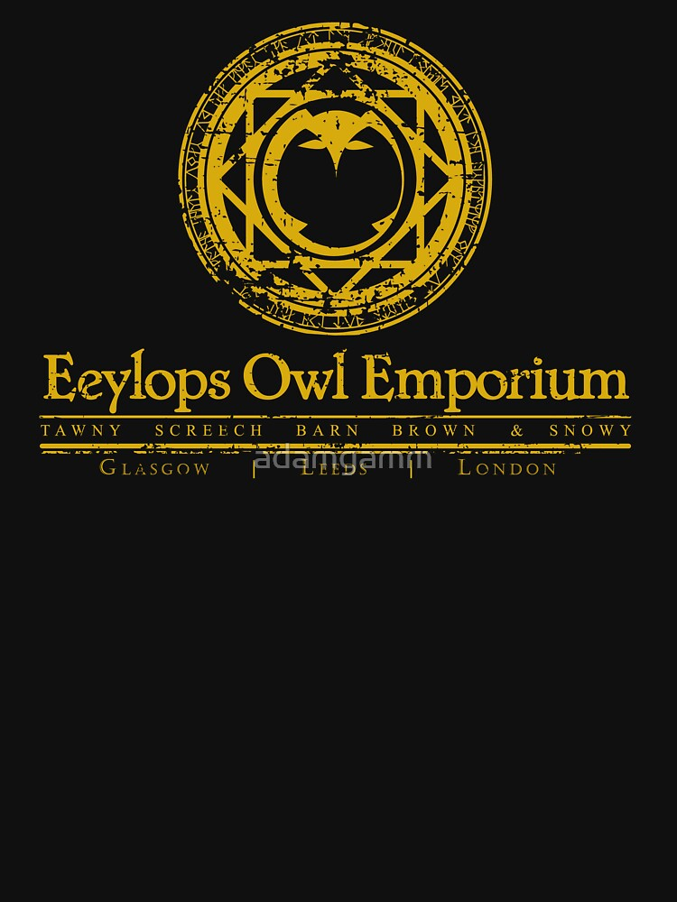 Eeylops Owl Emporium in Yellow | Unisex T-Shirt