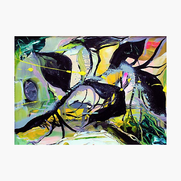 Branch Salad Abstract Painting Photographic Print