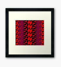 Florescent Orange Black Abstract Pattern  Framed Print