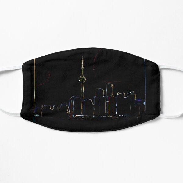 Toronto skyline 2 Flat Mask