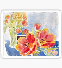 Tulips at Deja Bru Sticker