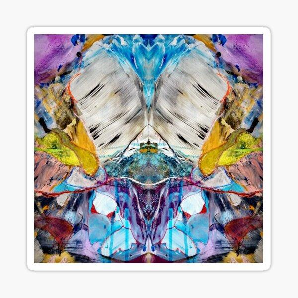 Monstro In Wonderland Abstract Psychedelic Art  Sticker