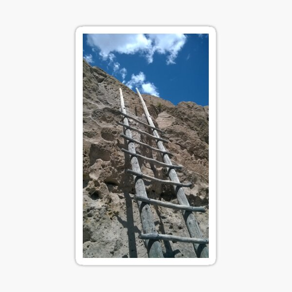 Ladder to the Sky, Bandelier National Monument Sticker
