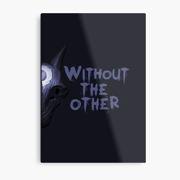 Without the other Wolf Kindred (part) Metal Print