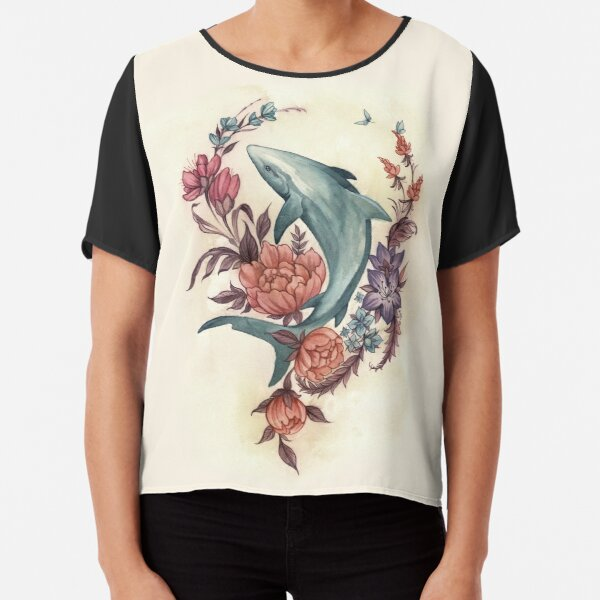 Floral Shark Chiffon Top