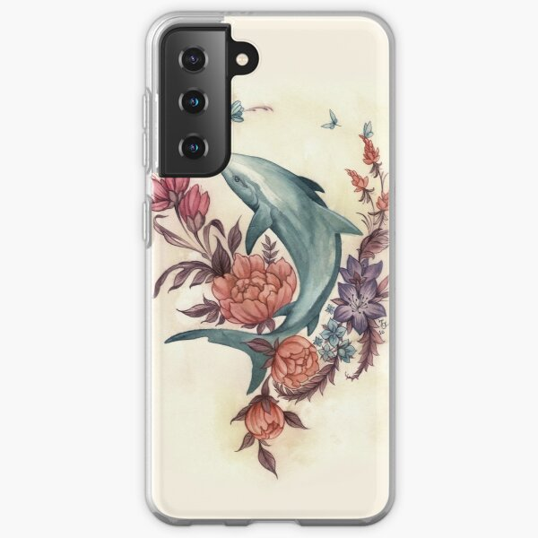 Floral Shark Samsung Galaxy Soft Case