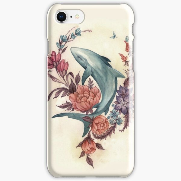 Floral Shark iPhone Snap Case