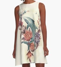 Floral Shark A-Line Dress
