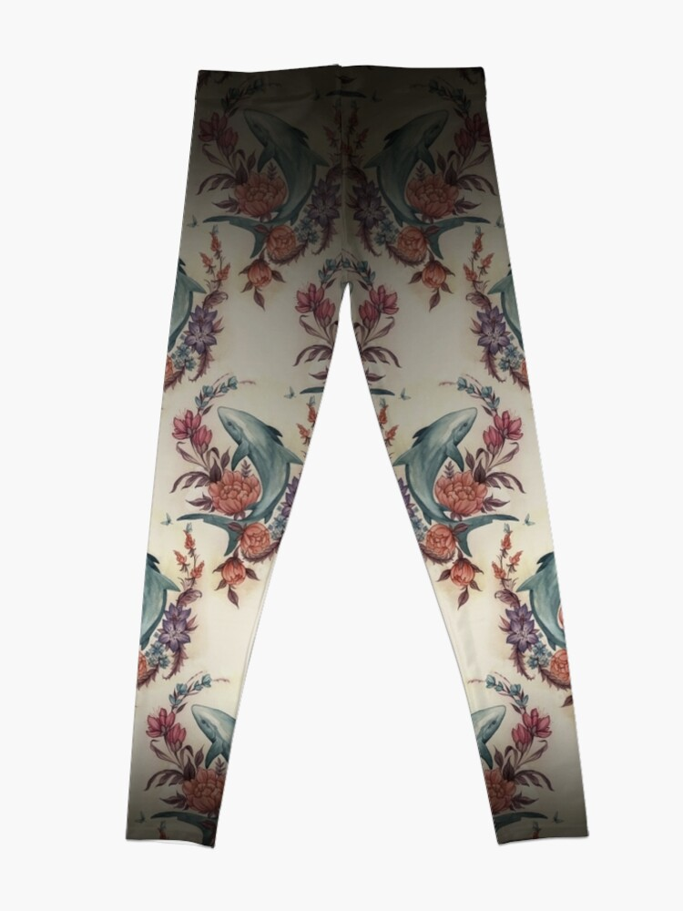 Alternative Ansicht von Blumenhai Leggings