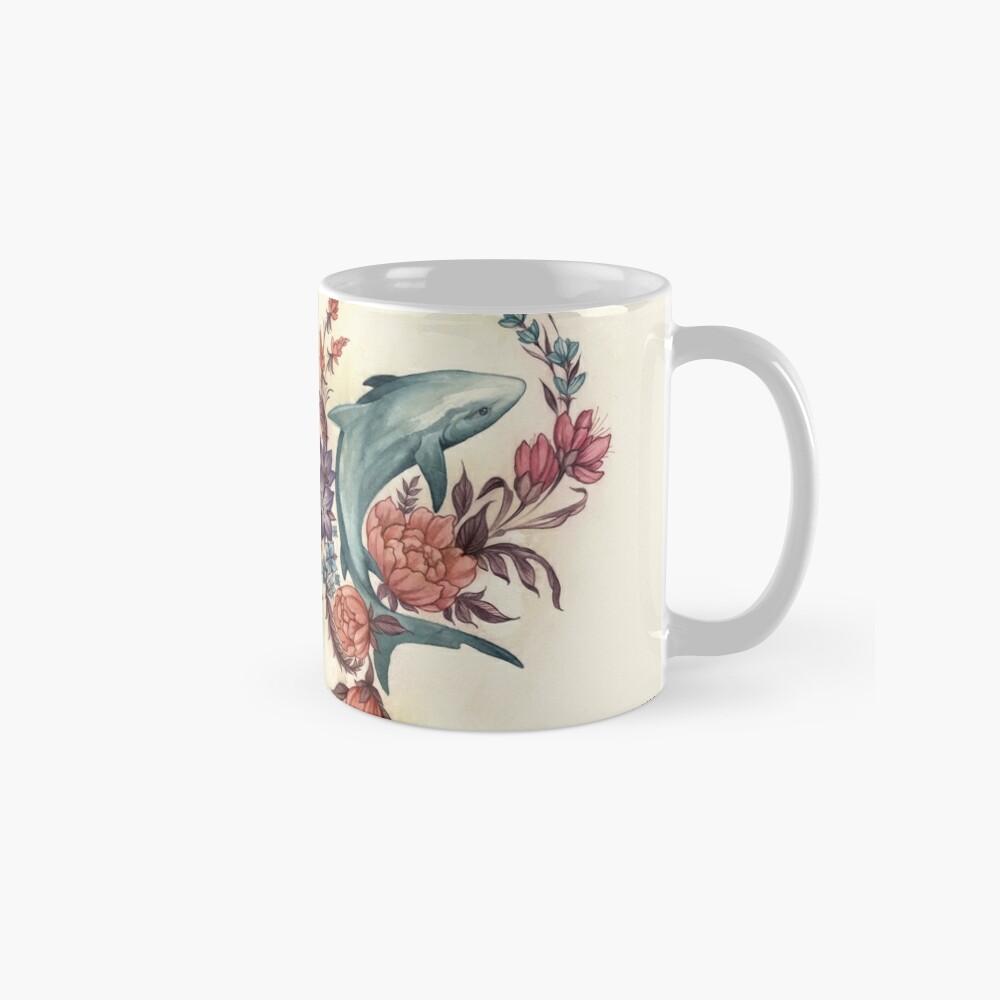Tiburón floral Tazas