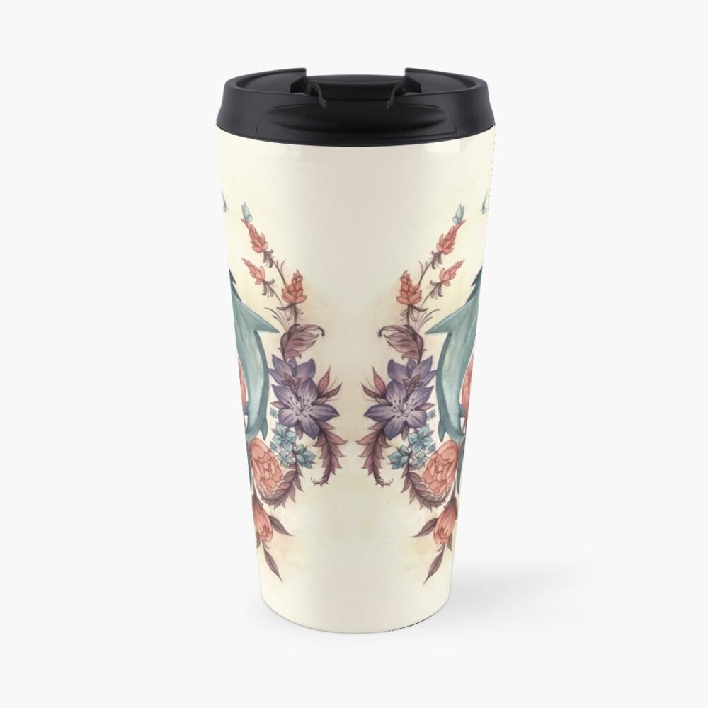 Floral Shark Travel Mug