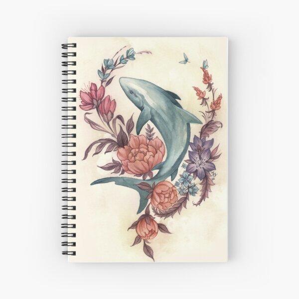 Floral Shark Spiral Notebook