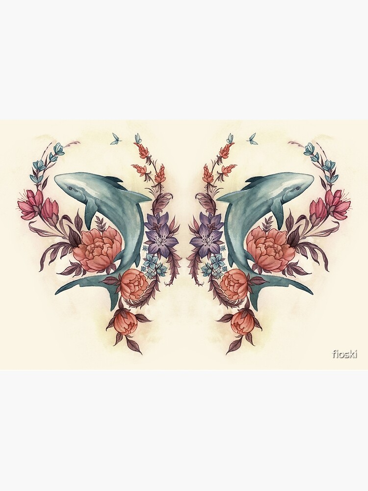 Floral Shark by fioski