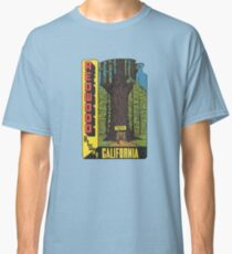 Redwood Highway Drive Thru Tree California Vintage Travel Decal Classic T-Shirt