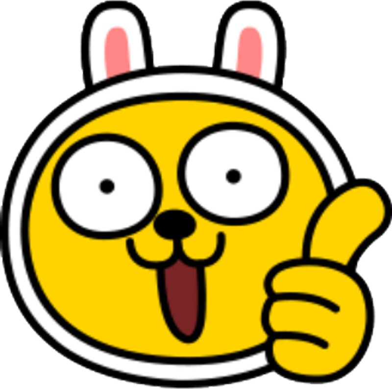 Kakaotalk friends muzi thumb up by icdeadpixels