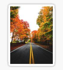 autumn road Sticker