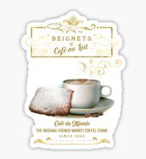 Cafe au Lait and Beignets Sticker