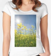 Sun Halo Over The Canola Women's Fitted Scoop T-Shirt