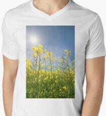 Sun Halo Over The Canola Mens V-Neck T-Shirt