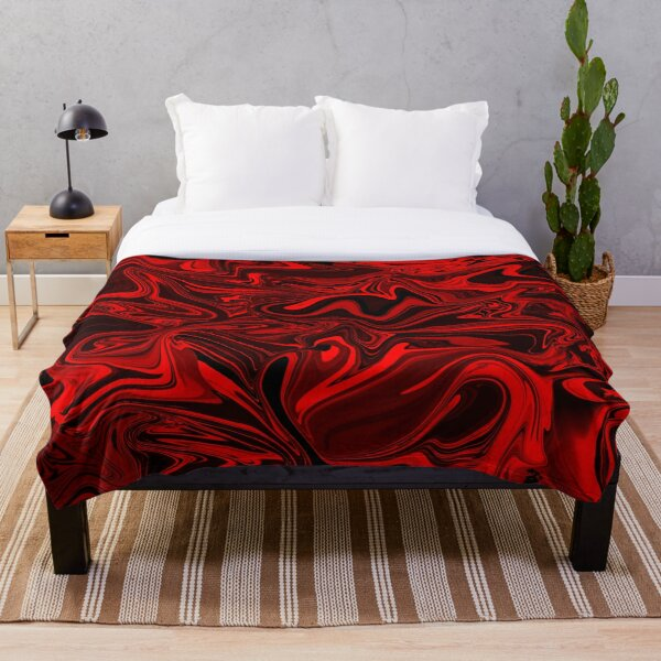 Scary Red Swirl Throw Blanket