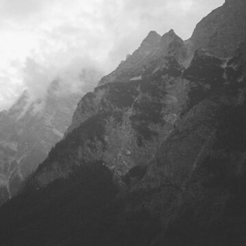 Black and White Mountains by zoemeinke