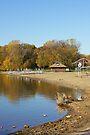 French Regional Park Beach in Autumn by Robin Clifton