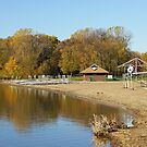 French Regional Park Beach in Autumn by Robin Clifton