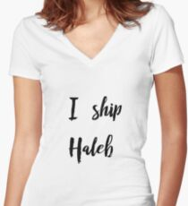 I Ship Haleb Women's Fitted V-Neck T-Shirt