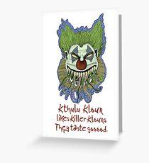 Kthulu Klown II Greeting Card
