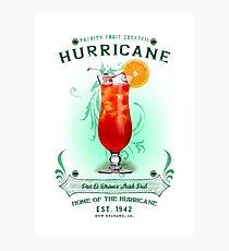 New Orleans Hurricane Cocktail Fotodruck
