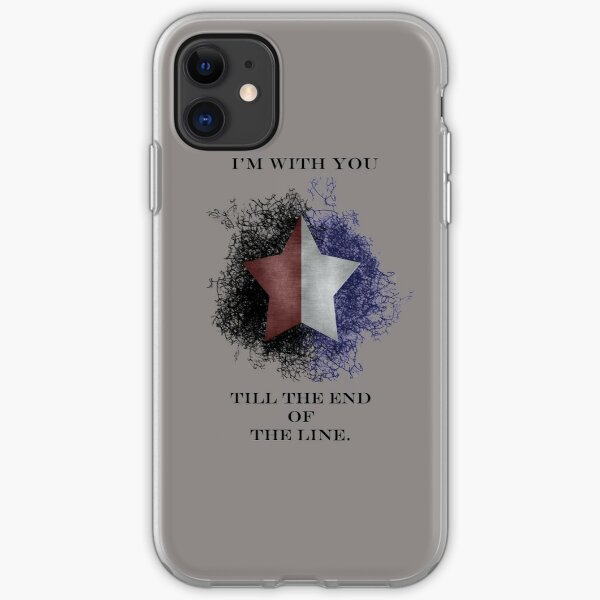 I'm with you till the end of the line iPhone Soft Case