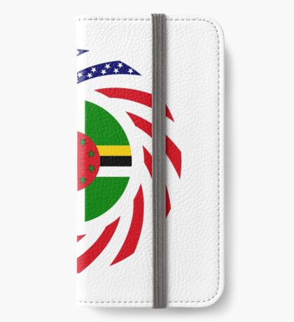 Dominica American Multinational Patriot Flag Series iPhone Wallet