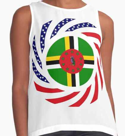 Dominica American Multinational Patriot Flag Series Sleeveless Top