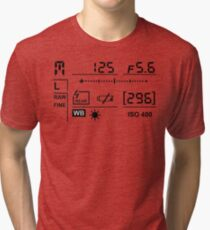 Camera Display Tri-blend T-Shirt