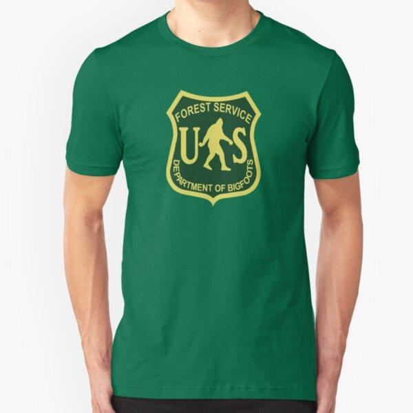 US Forest Service Bigfoot  Slim Fit T-Shirt