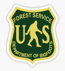 US Forest Service Bigfoot  Sticker