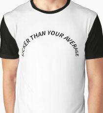 "White ""Sicker Than Your Average"" Notorious B.I.G Biggie Smalls Design Graphic T-Shirt"