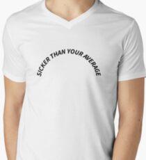 """White """"Sicker Than Your Average"""" Notorious B.I.G Biggie Smalls Design Men's V-Neck T-Shirt"""