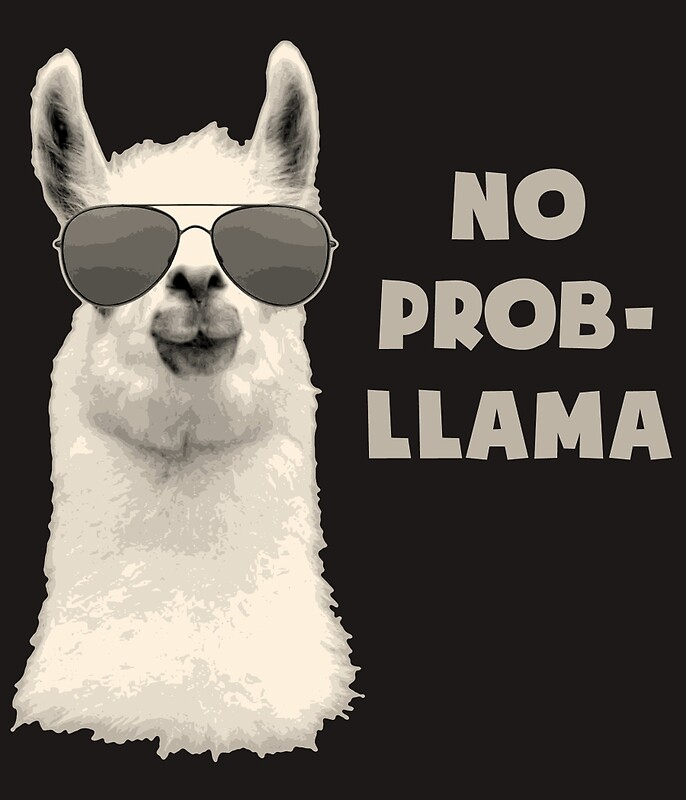 No Prob Llama: Greeting Cards | Redbubble