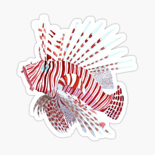Tropical lionfish Sticker
