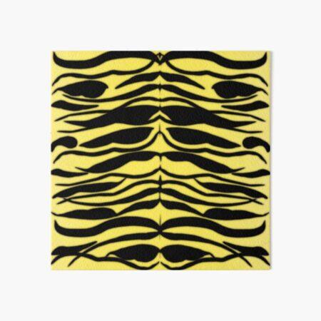 Tiger Skin Striped Pattern in Lemon Yellow Art Board Print