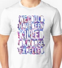 OR WORSE (outline - painted) Unisex T-Shirt