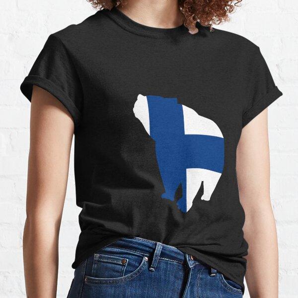 brown bear finland ,Finland flag T-shirt ,Unisex T-shirt  Classic T-Shirt
