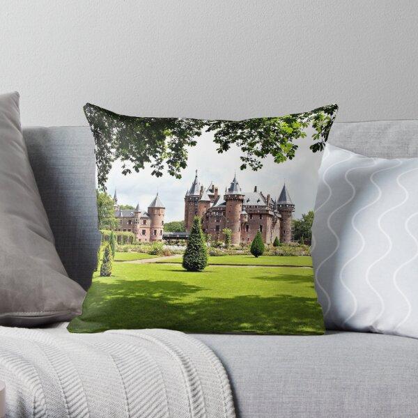 Castle De Haar in Holland Throw Pillow